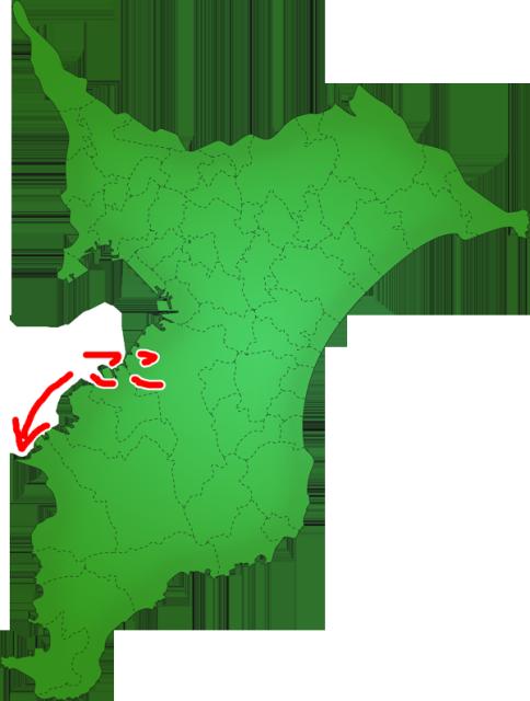 富津岬の場所
