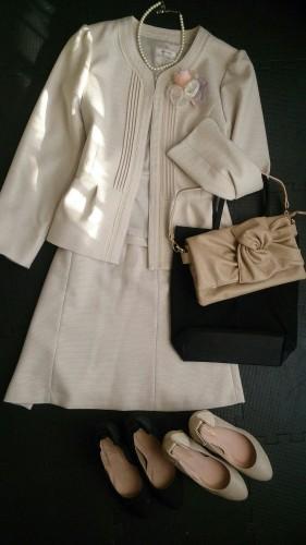 入園式で着用予定のセレモニースーツ